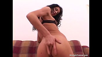 Michaela Sabbatini in sexy stockings gets her tight ass hole fucked