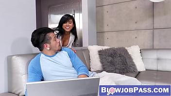 Sexy ember gallery - Asian beauty ember snow makes big cock cum hard with mouth
