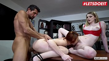 Letsdoeit girls rough with mature boss...