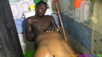 Teen ebony girl caught fucked on the bathroom by Step brother, angel queenshome9ja.