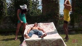 Tranny bondage movie Hot shemale bondage outdoor threesome