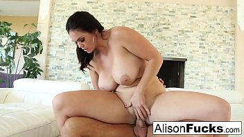 Beautiful Alison Tyler takes on a big dick and swallows it