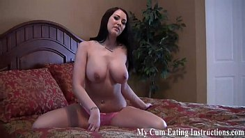Edge yourself to an orgasm and then eat your cum CEI