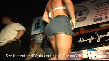 Start Of A Crazy Wet T-shirt Contest Where All The Girls End Up Naked