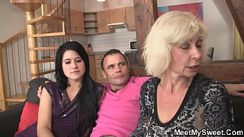 His GF gets involved into family threesome orgy