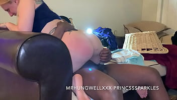 Chloe Sparkles Bouncing On Daddy Dick