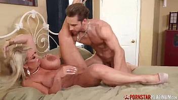 PORNSTARPLATINUM Busty Big Ass MILF Alura Jenson Rides Dick 11 min