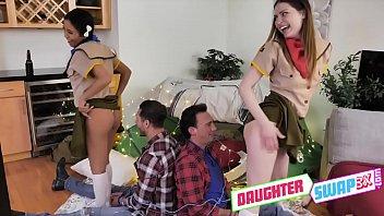 Gushy Girl Scout Swapping - Kamryn Jayde, Jada Kai - FULL SCENE on http://DaughterSwap3X.com