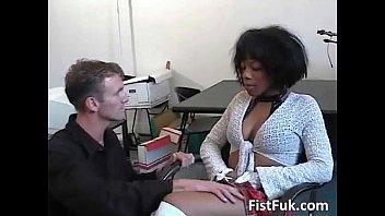 Hot ebony gets pussy fucked by a hard