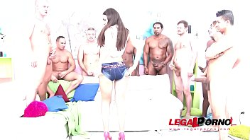 Lusty Whore Nataly Gold Loves a Crazy Hardcore Gangbang