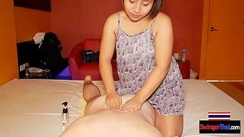 Big round butt Thai amateur gives happy ending massage