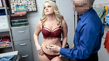 Mom Caught Shoplifting Innerwear in CCTV and Taken to LP Office For Strip Search - Lisey Sweet