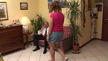 The look of the filth old pig on her young and slutty daughter 19 min