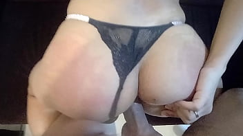 without a condom giving my ass and I came with butt plug, slapping my ass and moaning hot