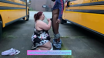 Bbw getting dick down between 2 buses