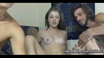 Webcam amateur direct - Amateur hot chick takes on two guys live on webcam