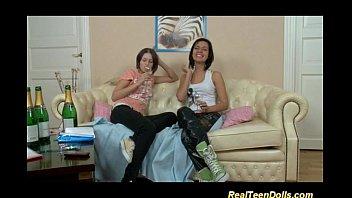 young lesbian strapon anal 8 min