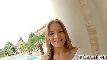 AllInternal Double penetration pumps this teens pussy full of cum 14 min