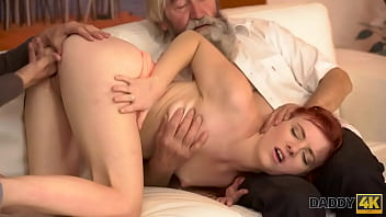 Streaming Video DADDY4K. Boy and his bearded  oldman team up to punish innocent cutie - XLXX.video