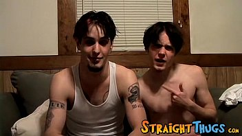 Horny straight thugs Axel and Billy love beating their meat