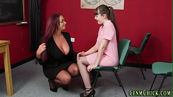 Cfnm teen taught to tug