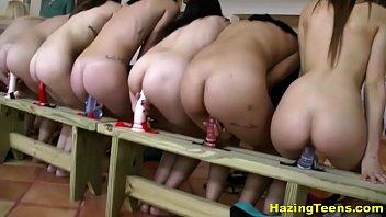 Tasty college sluts take part in naughty n...