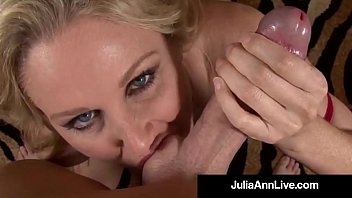 Dirty milf blowjob Dirty talking milf julia ann sucks your hard wet cock pov