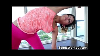 Fit Teen Gets a Hardcore Yoga Session!
