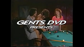 Lusty sturdy guy teaches couple of naughty chicks Sharon Mitchell and Viper to play on the pool table