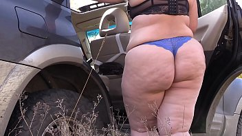 Compilation of dressing behind the scenes outdoors. Beautiful fat butt in different panties, pawg.