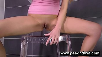 Samantha Joon Drinks And Plays With Her Pee