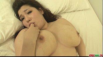Plump and busty babe Yume Sazanami finger fucke...
