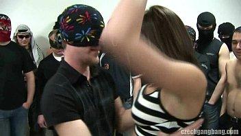 BUSTY GIRL AT C ZECH GANG BANG PARTY PARTY