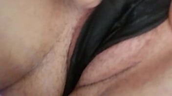 Wet panties exposed pussy Hazey panty play and stuffing part 1