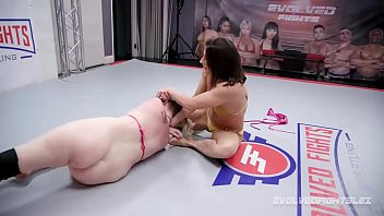Ariel X takes full control in lesbian wrestling fight vs rookie Riley Daniels
