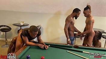 Breed it Raw - 4 tops fuck a willing bottom, black gay rough gangbang bir thumbnail
