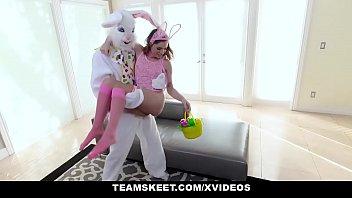 ExxxtraSmall - Hot Easter Bunny Summer Brooks Takes A Huge Bunny Cock 10 min