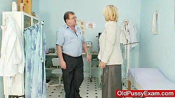 Hot busty granny tits and pussy gyno checkup 5 min