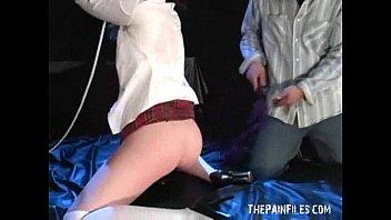 Slavesex of blonde Maja in bondage blowjobs