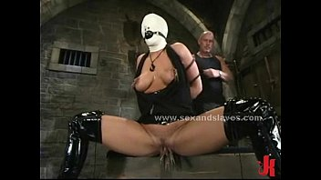 Leather tied sex slave extreme sadomaso