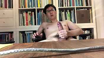 Big white ropes of cum from Singapore boy's asian cock
