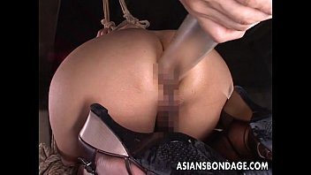 Asian Teen Has A Nasty Time Getting Toy Fucked Bdsm Style