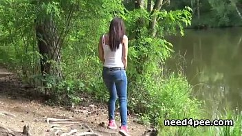 Peeing in inappropriate places Peachy cunt filmed pissing in public places