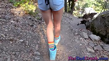 Teen stepdaughter outside gets pounded