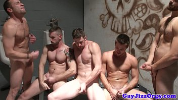 Free gay circle jerk off Trevor knight and pals jerk off together
