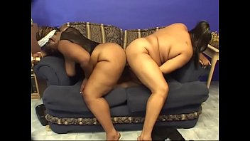 Huge black ass bitches on couch dildo fucking with pleasure