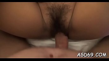 Luscious asian girl gets her soaked pussy drilled rough