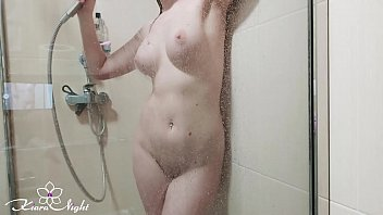 Busty Teen Masturbate Pussy in the Shower and Orgasm