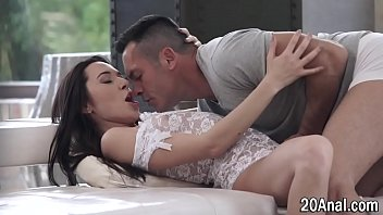 Anally riding babe gets pussy rubbed