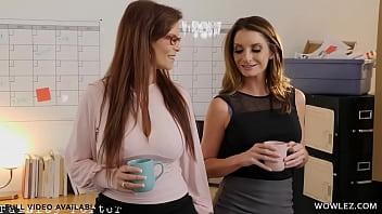 Syren De Mer And Natasha Nice Having Lesbian Sex In The Office